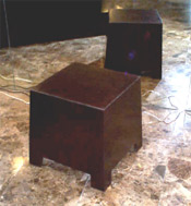 Zen Stool - Doug Fir w/ Leather Top