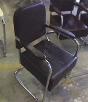 Chrome & Leather Club Chair