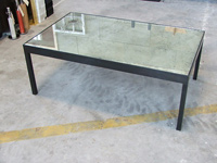 Antique Mirror Table w/ Brass Base