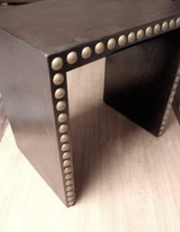 Leather Bench w/ Studs