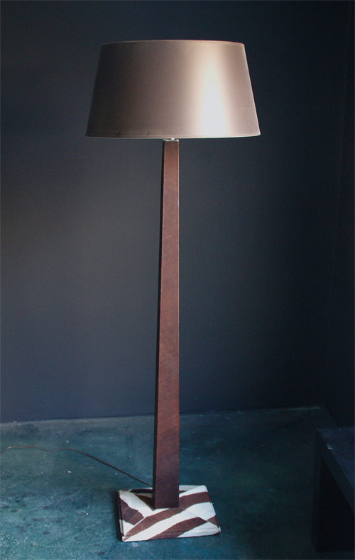 York street studio fine furniture leather walls hardware and more leather floor lamp aloadofball Image collections
