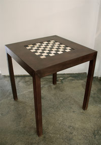 Leather Game Table