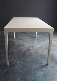 Parsons Collection Dining Table - Ivory Painted & Lacquered