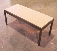 Fawn Pig Skin Table w/ Steel Base