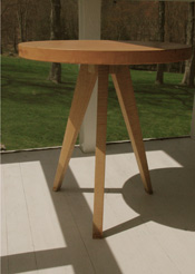 Leather Tripod Table